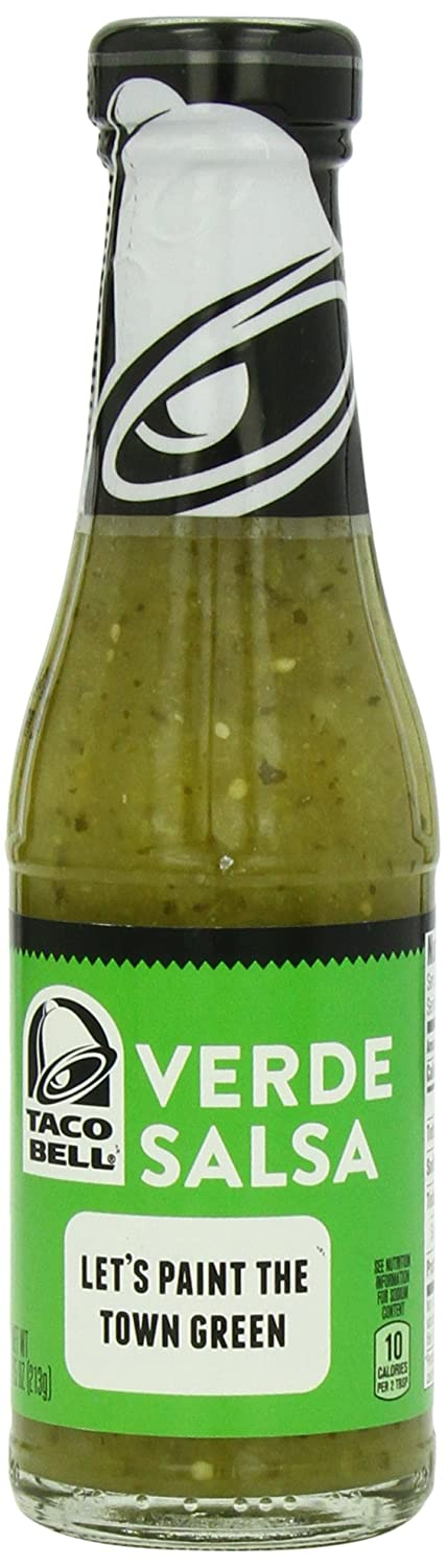 Taco Bell Salsa Bottle, Verde, 7.5 Ounce (Pack of 12).: Amazon.com: Grocery & Gourmet Food