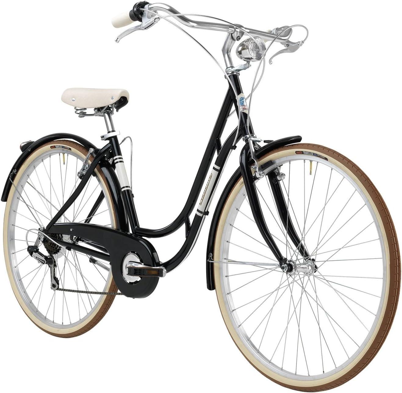 Bicicleta Clasica Retro Vintage Mujer Adriatica Danish 48cm 6v Negro: Amazon.es: Deportes y aire libre