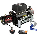 Bravex Electric Recovery Winch 9500 lb. Load Capacity 12V Heavy Duty with Both Wireless Handheld Remote and Corded Control - Truck SUV Durable Winch