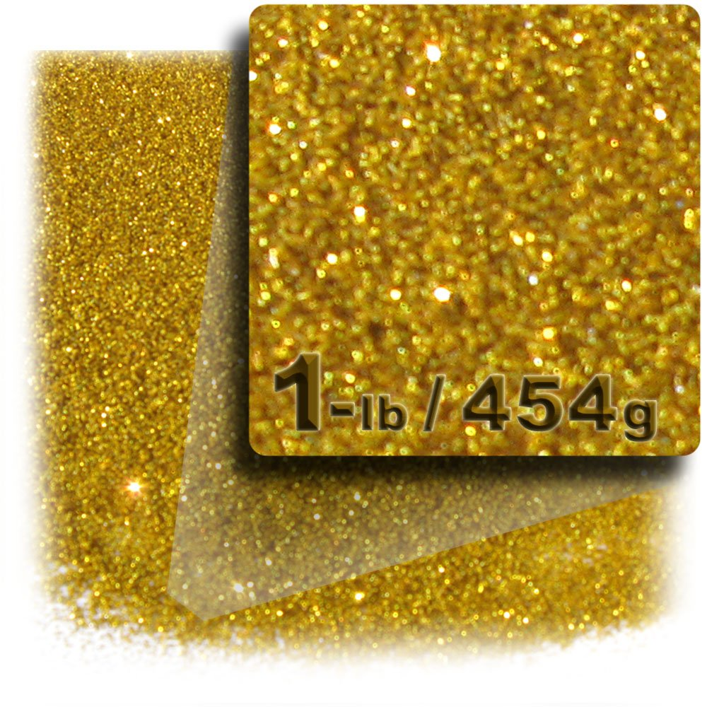 The Crafts Outlet Glitter Powder, 1-LB/454g, Fine 0.008in, Gold