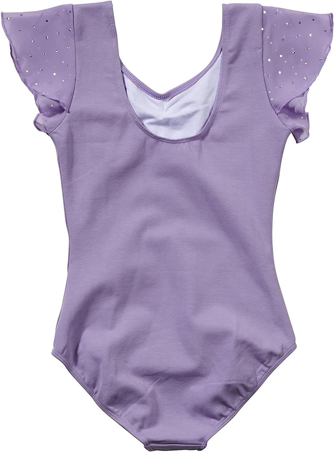 Bloch Girls Flutter Sleeve Leotard with Sequin Dot Toddler//Little Big Kids