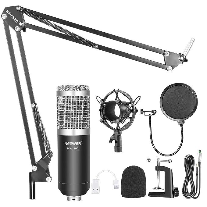 Amazon.com: Neewer - Micrófono profesional para radio y ...