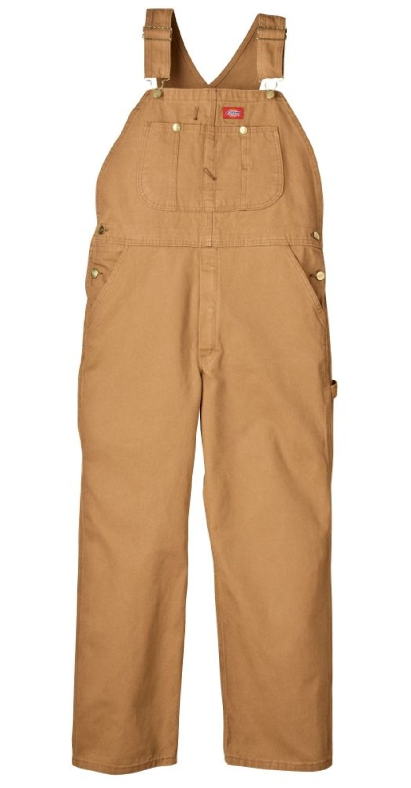 Dickies Men's Bib Overall, Brown Duck, 34X32