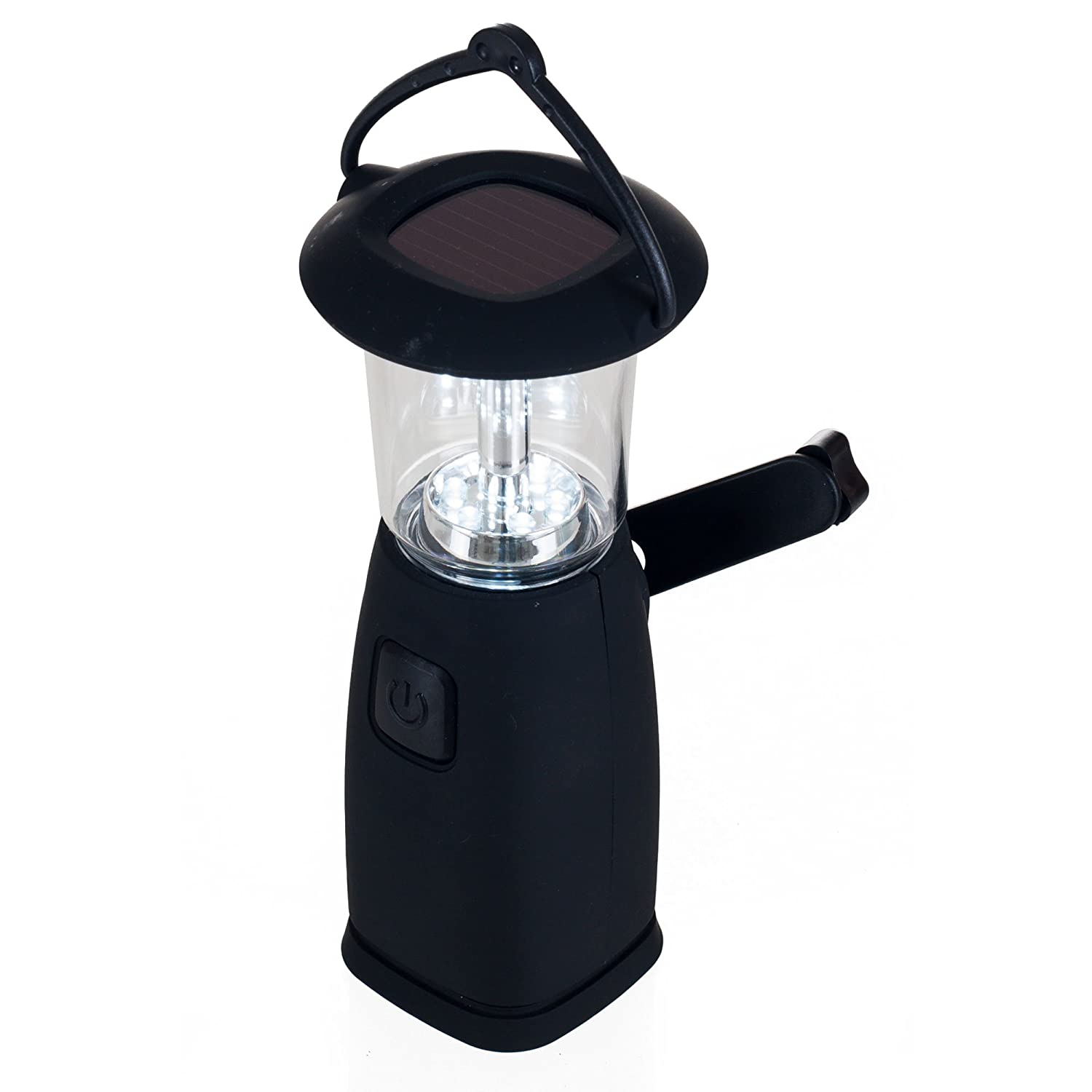 Black Trademark Global 75-SP156 Whetstone 6 LED Solar and Dynamo Powered Camping Lantern