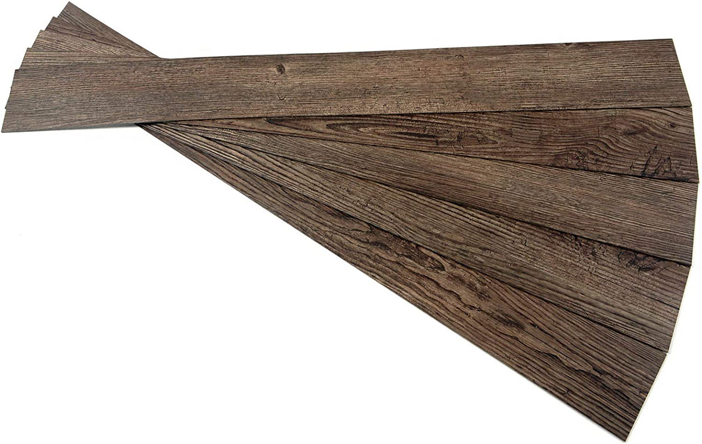 ROSEROSA Peel and Stick Engineered PVC Plank Wood Pattern Durable Vinyl Flooring (ECK-802 : 5 Planks)