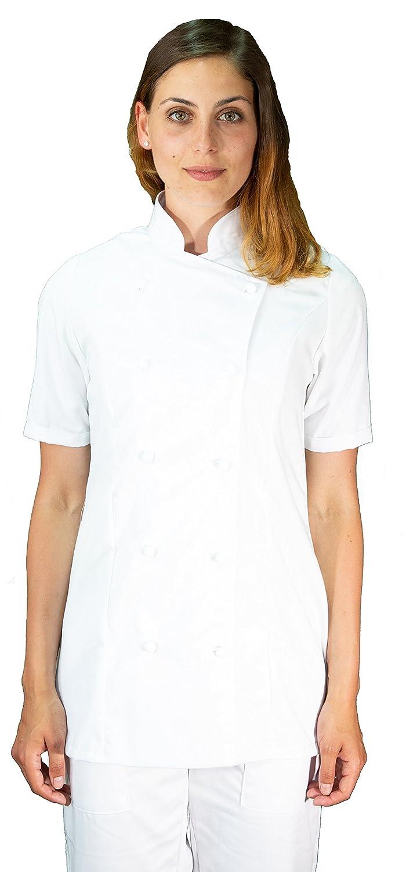 tessile astorino giacca, casacca cuoco chef, Donna, bianca, manica corta, Made in Italy