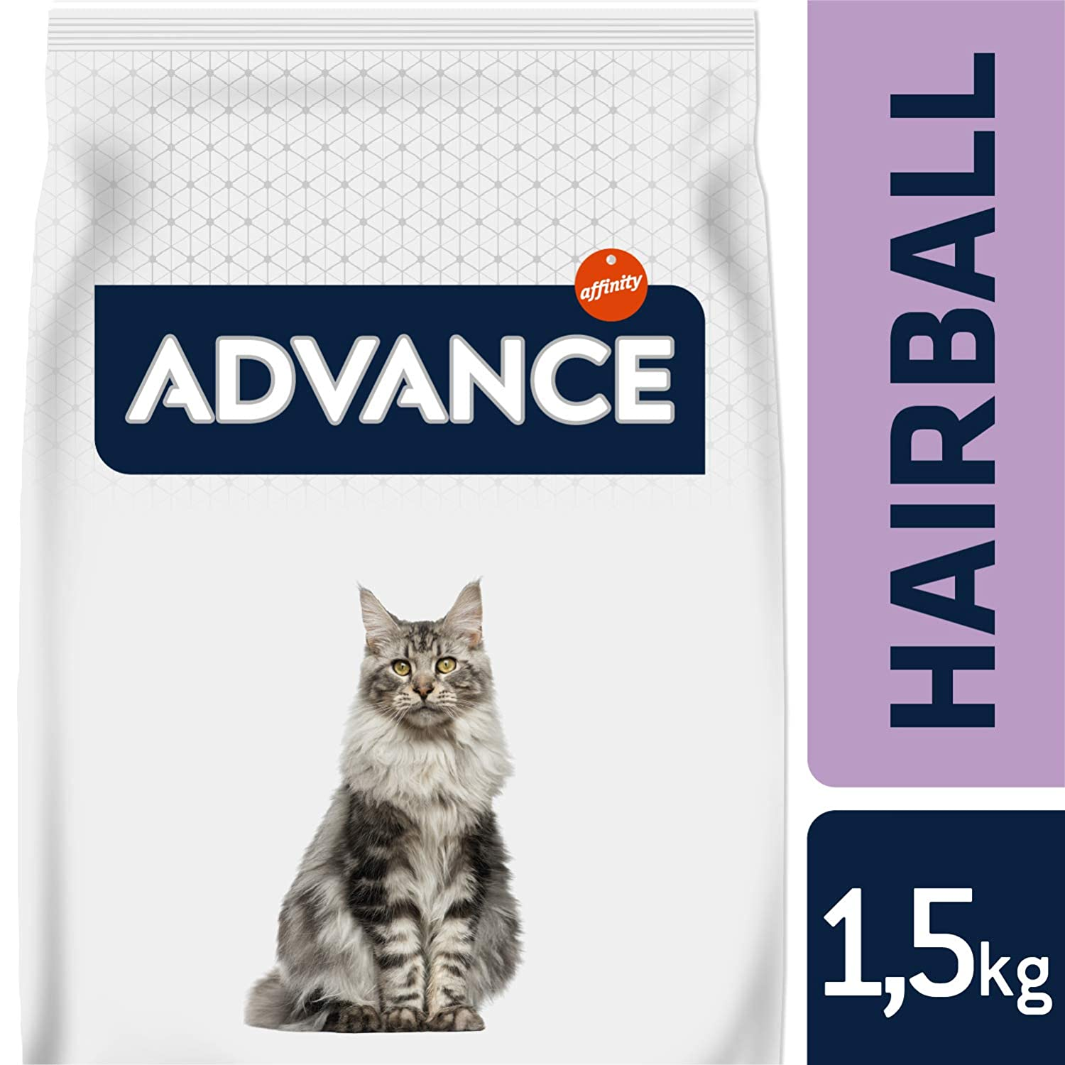 Advance Hairball Pienso para Gatos con Pavo - 1500 gr: Amazon.es: Productos para mascotas
