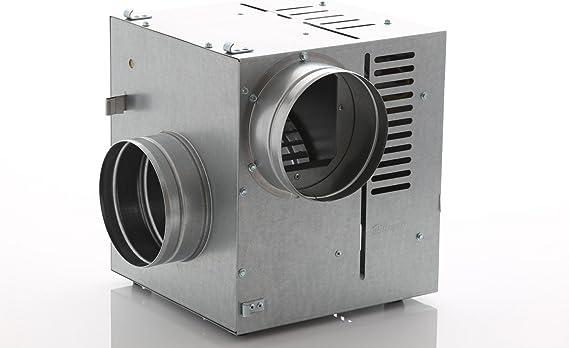DARCO WK Hei/ßluft-Ventilator AN2 Luftdurchfluss 600m3//h Durchmesser 150mm f/ür die Warmluftverteilung Galvanisiert