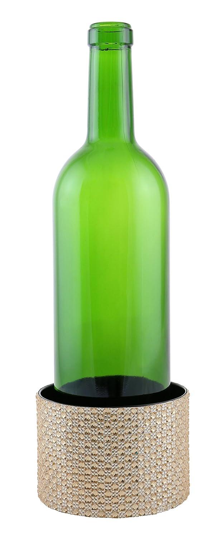 Vino órganos superficie pantalla ámbar cobre cristales decorada con Metal botella de vino posavasos: Amazon.es: Hogar