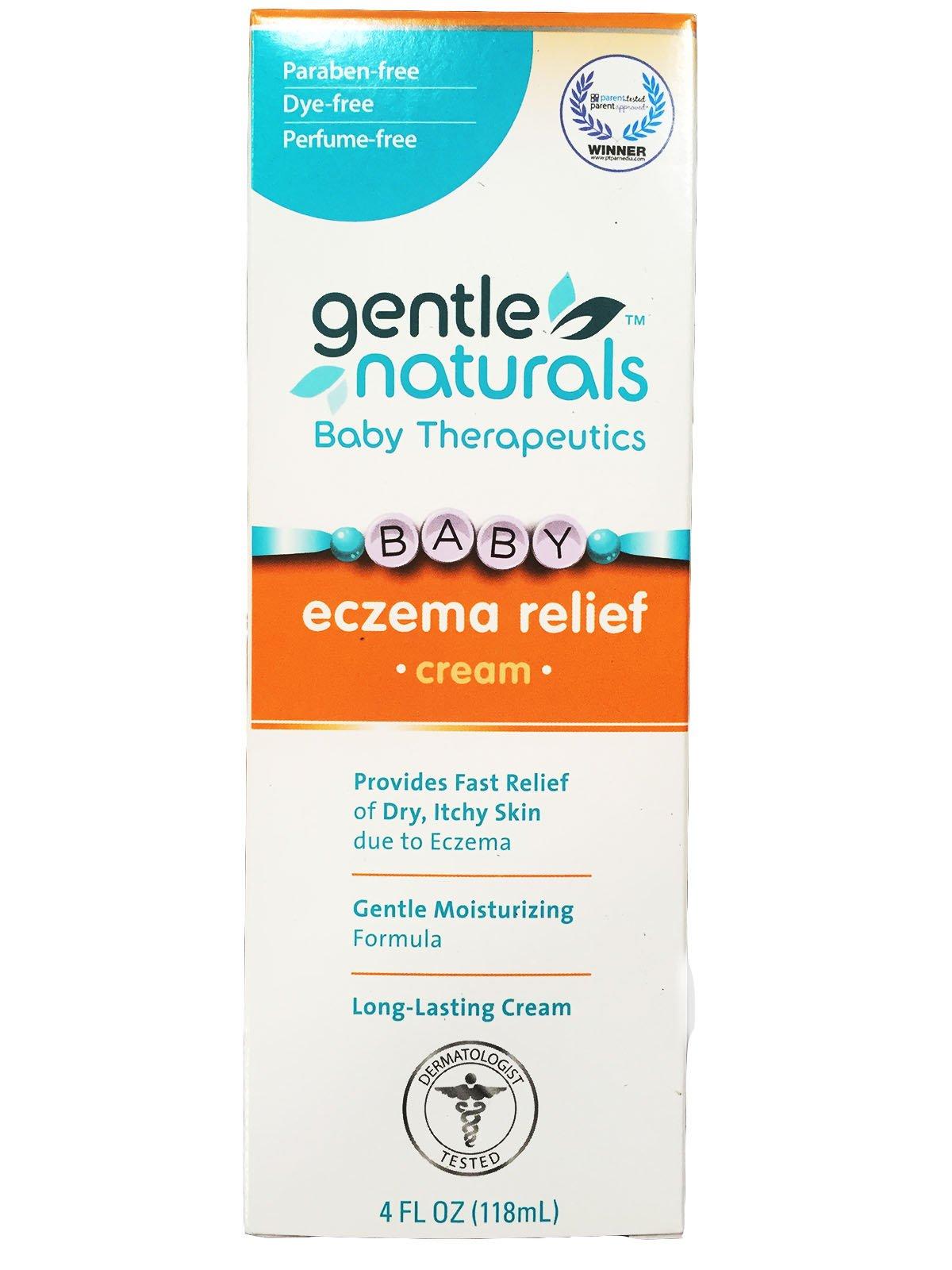 Gentle Naturals Baby Eczema Relief Cream 4 oz (Pack of 2)