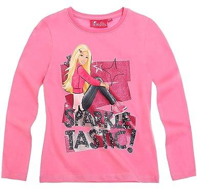 60dcf3685 Barbie Tee shirt manches longues enfant fille Rose foncé de 2 à 8ans ...