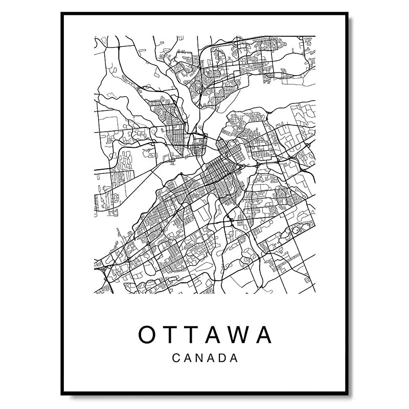 Home Decor Poster Wall Art Ottawa Aerial Art//Canvas Print