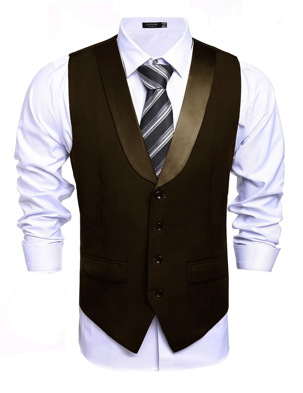 COOFANDY Men's Business Suit Vest Slim Fit Casual Skinny Wedding Dress Waistcoat Zeagoo Ltd ETJ005258*