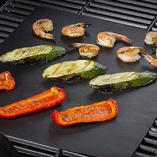 ZhangHongJ,Tapis réutilisable pour Four à Barbecue antiadhésif PTFE(Color:Noir)