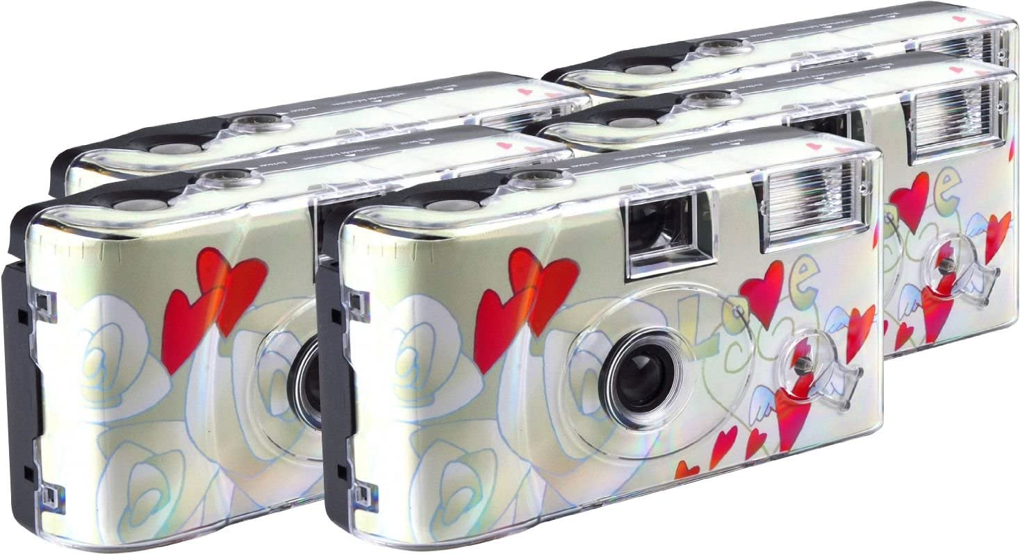 TopShot Love Cult Disposable Camera 27 Photos Flash 5 Pack