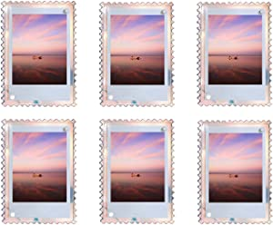 WINKINE Magnetic Photo Frames 2x3, 6 Pack Iridescent Acrylic Fridge Magnets Picture Frame for Fuji Instax Mini Film & Polaroid Films, Floating Picture Display for Home, Business & Ofiice Decor