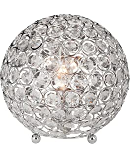 ball table lamp. elegant designs lt1026-chr crystal ball table lamp
