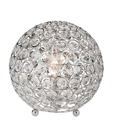 Elegant Designs LT1026 CHR Crystal Ball Table Lamp