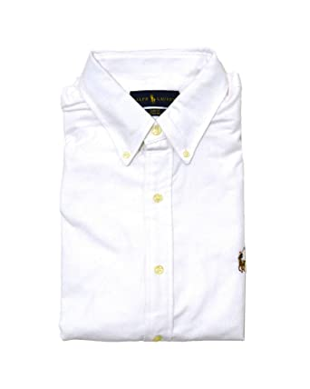 cef0fee3679d6 Image Unavailable. Image not available for. Color  Polo Ralph Lauren Mens  Long Sleeve Slim Fit Stretch Oxford Buttondown Shirt (XXL