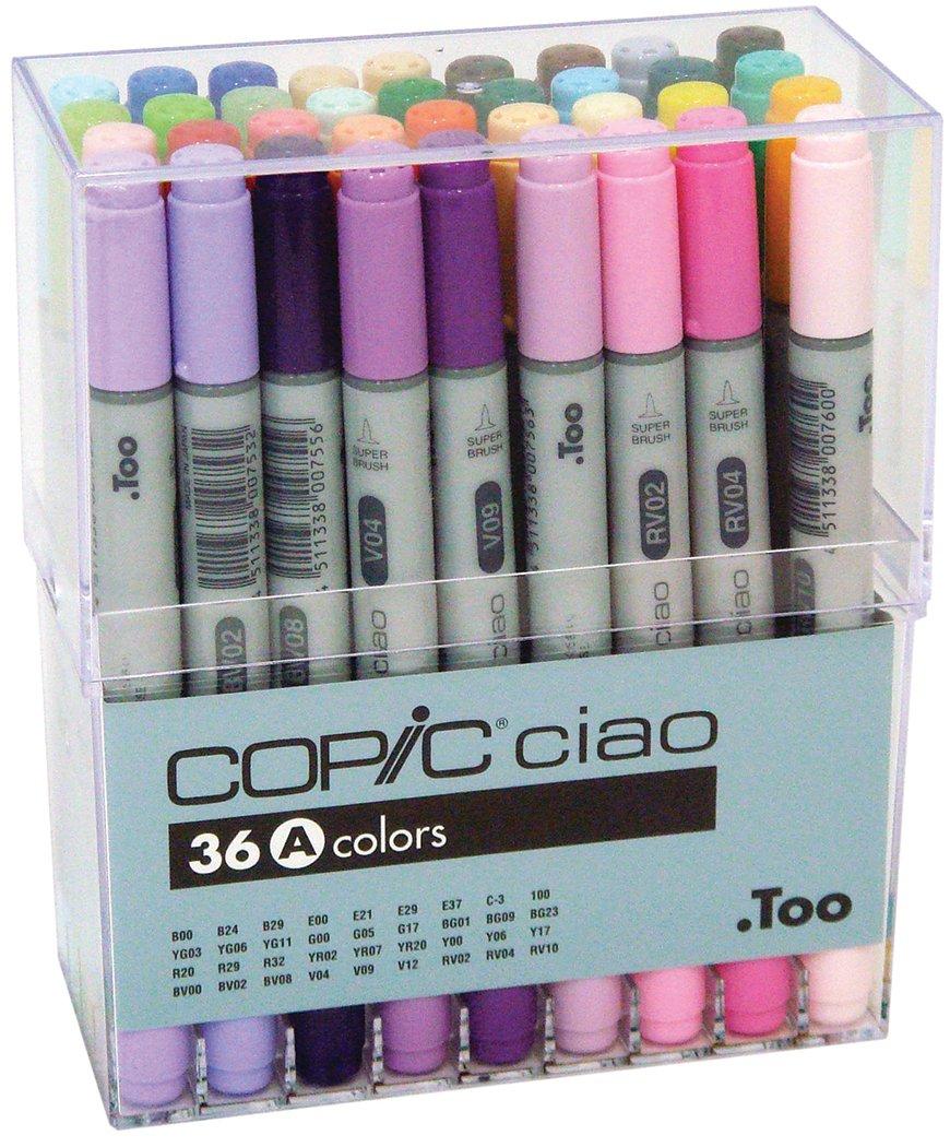 Copic Ciao – Juego de rotuladores, 36 unidades de dibujo surtido A