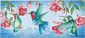 Evergreen Flag Hummingbirds Sassafras Switch Mat - 22 x 1 x 10 Inches