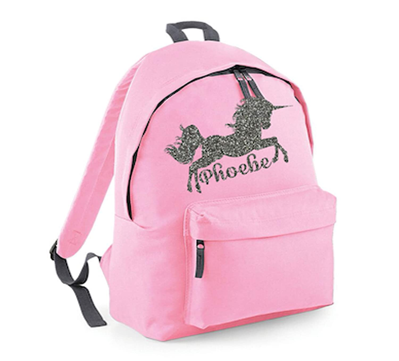 9ab317b7b1 Personalised Unicorn Name Backpack Rucksack School bags Girls Personalised  Bags  Amazon.co.uk  Handmade