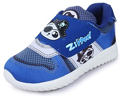 sale retailer f8141 3f166 TRASE Zippie-P Royal Blue Kids Sports Shoes for Boys-Girls-10C IND