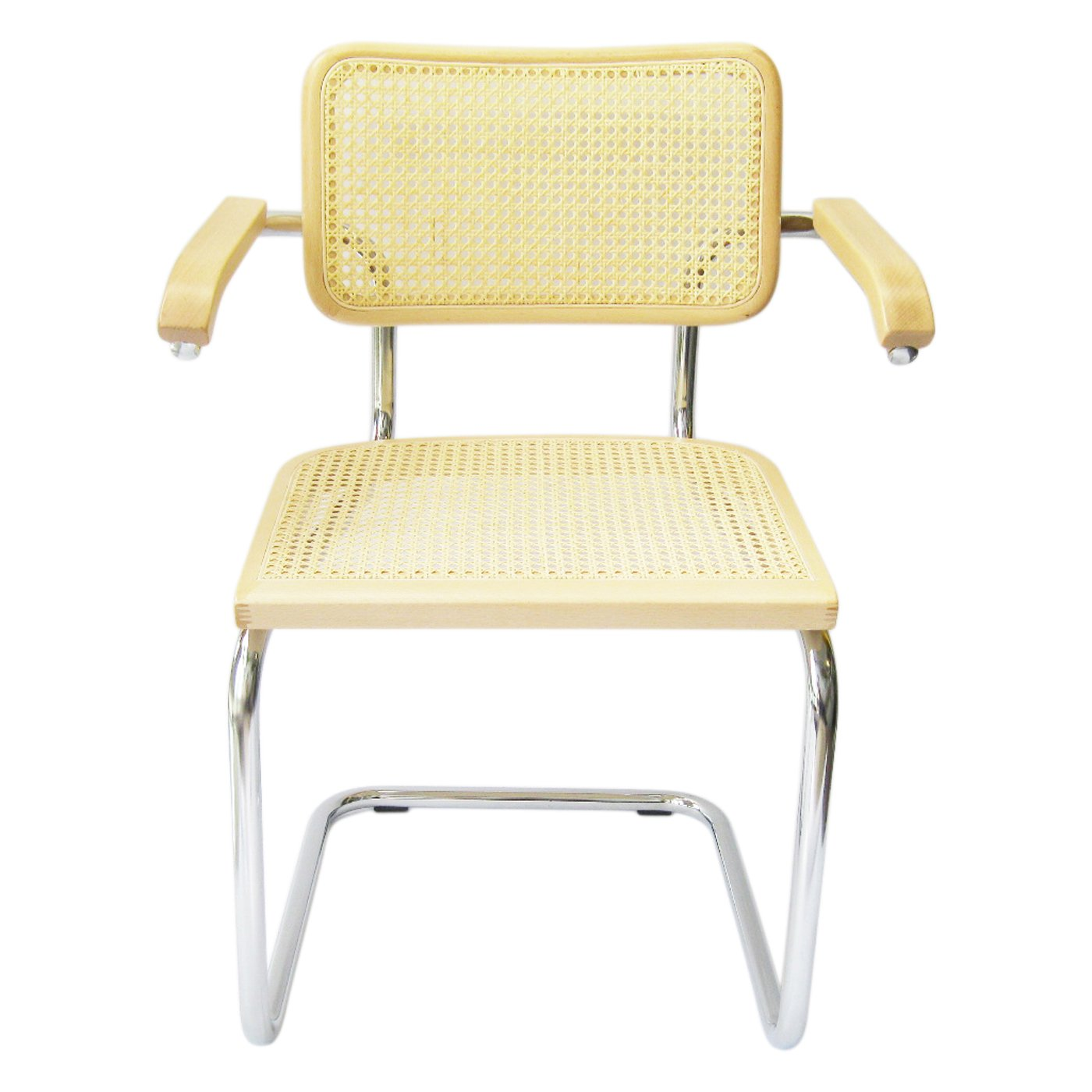 Amazon Marcel Breuer Cesca Cane Chrome Arm Chair in Natural