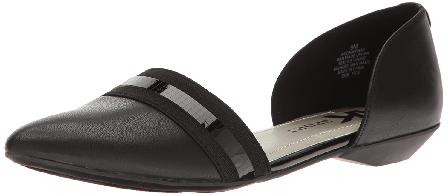 aa108866a5 Amazon.com | AK Anne Klein Sport Women's Onmyway Synthetic Pointed Toe Flat  | Flats