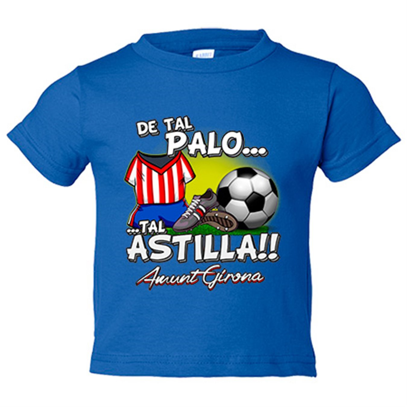 Camiseta niño De tal palo tal astilla Girona fútbol - Amarillo, 3-4 años: Amazon.es: Bebé