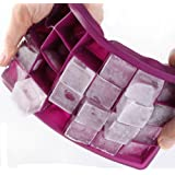 Ice cube trays,Guardians 24 Cube Food Grade Silicone Ice Tray Molds Easy Release Ice Jelly Pudding Maker Mold (Purple)