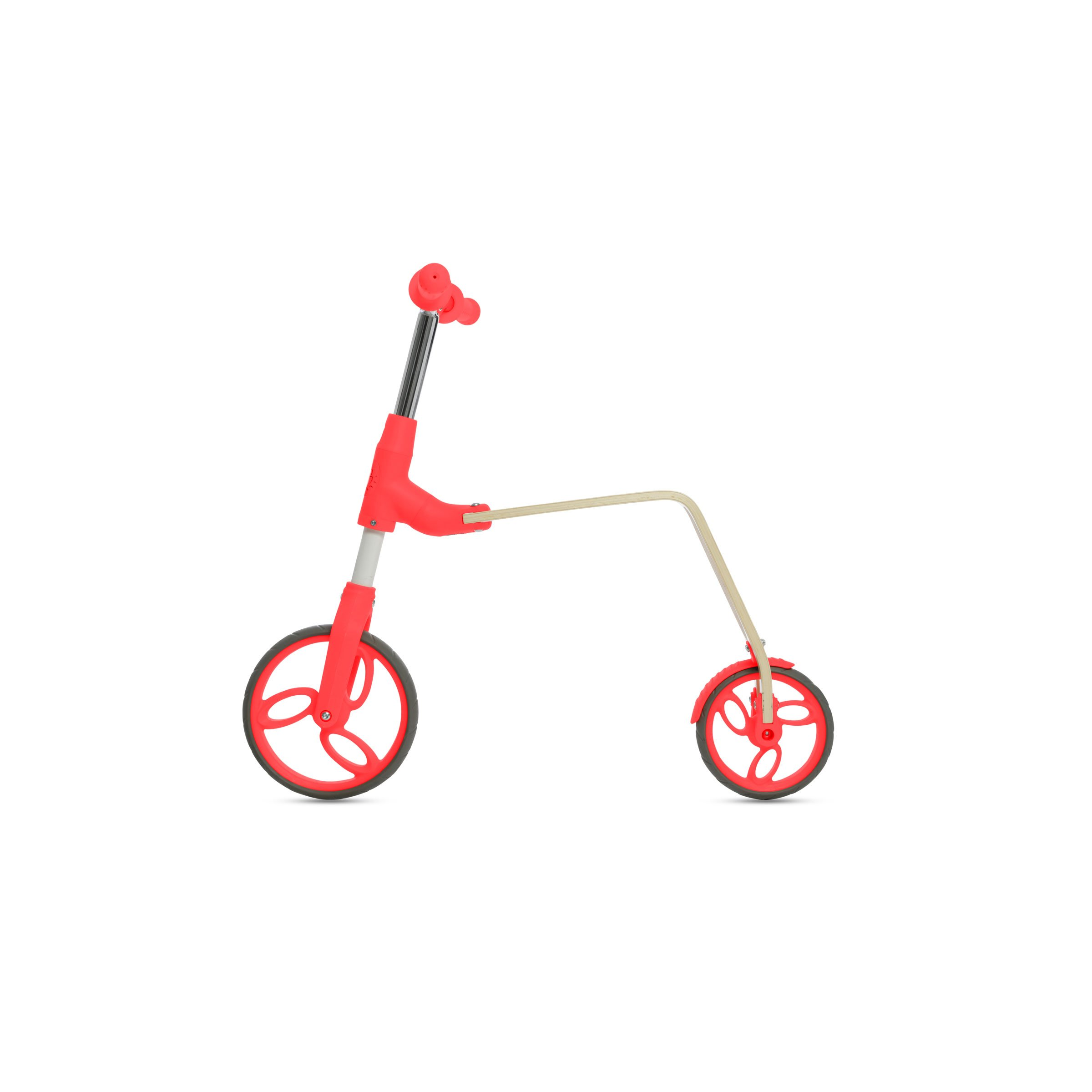 Jetson Orange Flex 2-in-1 Kick Scooter and Balance Bike Ride-On Push for Toddler & Kids - Unique Conversion System - Lightweight, Removable Handlebar, Wood Finish Deck - EZ Assembly by Jetson