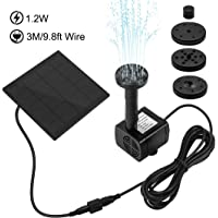Ankway Solar Water Pump Kit 1.2W 3M/9.8ft Wire Length Solar Power Water Pump Kit