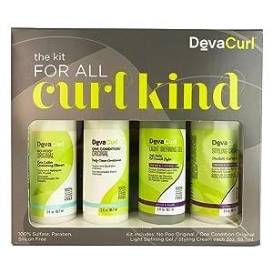 DevaCurl 3oz Kit For All Curl Kind, 4 Piece Set