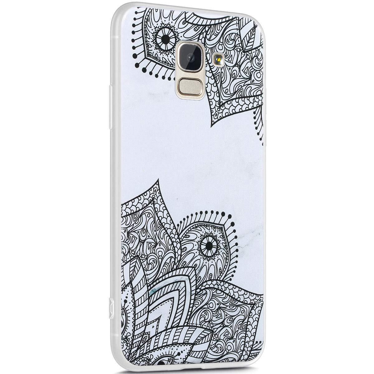 Ysimee Compatible avec Coque Samsung Galaxy J6 2018 Silicone Motif Ecriture S/érie de Marbre Housse Matte Case Ultra Mince Souple TPU /Étui avec Anti-Rayures Absorption des Chocs Bumper,/Écriture F