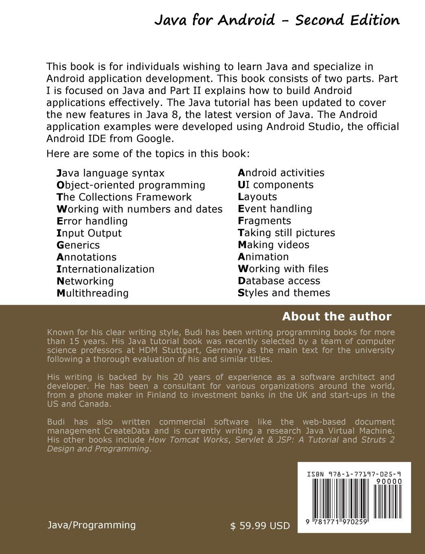 Java for android second edition budi kurniawan 9781771970259 java for android second edition budi kurniawan 9781771970259 books amazon baditri Image collections