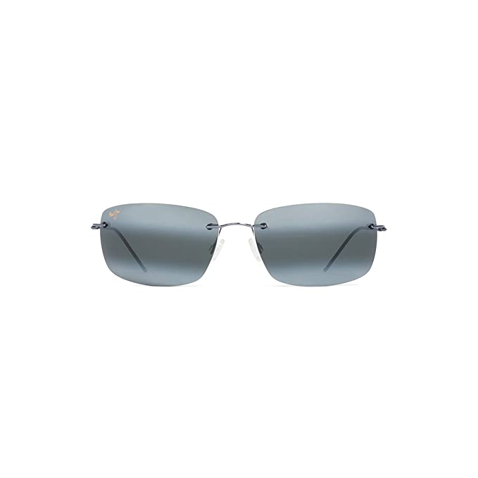Maui Jim - FRIGATE 716, Geométrico, beta titanio, unisex, GUNMETAL BLUE BLACK SLEEVE/NATURAL GREY(716-06), 65/18/127: Amazon.es: Ropa y accesorios