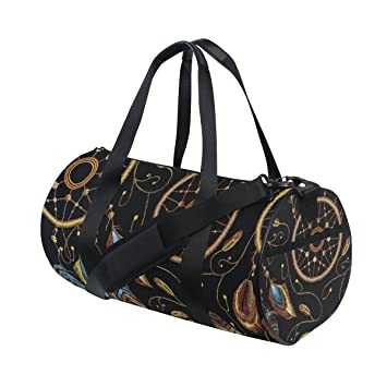 Amazon.com   Naanle Native American Indian Dream Catcher Ethnic Boho Gym  bag Sports Travel Duffle Bags for Men Women Boys Girls Kids   Sports Duffels 4c2ec37566