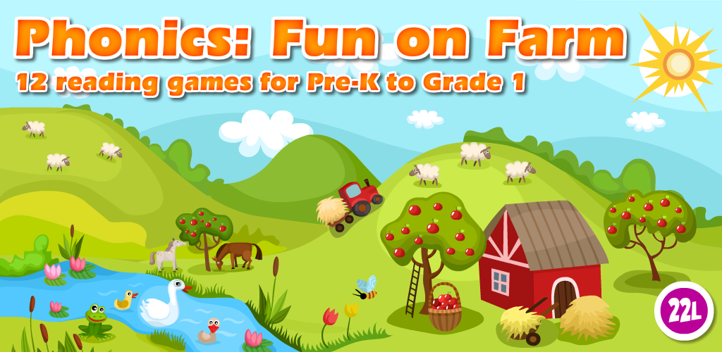 Phonics: Fun on Farm - Reading, Spelling and Tracing
