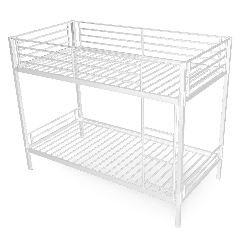 LOWYA (ロウヤ) ベッド 2段ベッド スピード組み立て 連結式 簡単 パイプベッド はしごタイプ シングル ホワイト おしゃれ 新生活 B077NYZ6KV  ホワイト