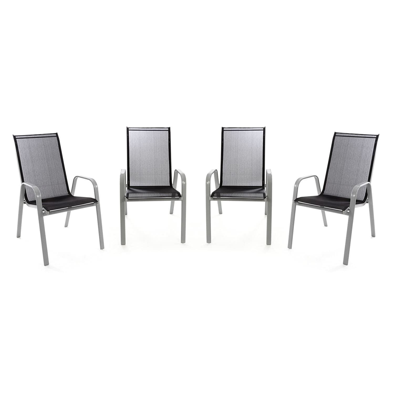 Elegant Gartenstuhl Metall Weiß Design
