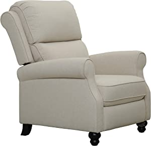 "Amazon Brand – Ravenna Home Push-Back Recliner Living Room Chair, 33.9""W, Beige"