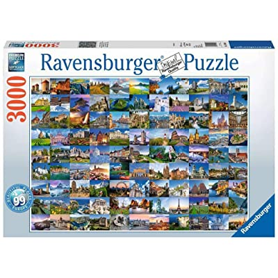 Ravensburger 17080 Beautiful Places of Europe - 3000 Piece Puzzle for Adults, Every Piece is Unique, Softclick Technology Means Pieces Fit Together Perfectly: Toys & Games