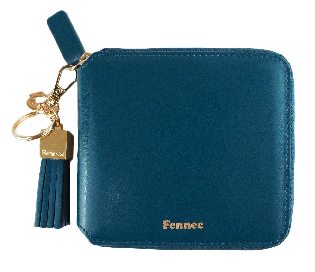 Fennec Zipper Wallet Square Tassel フェネック 二つ折り財布 コインケース付き 【Fennec OFFICIAL】 B0765M3FTS シーグリーン シーグリーン