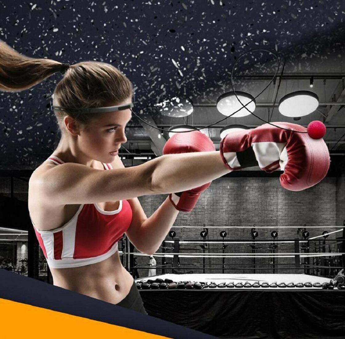Tragbare Pro Boxing Training Speed Ball Mit Stirnband F/üR Mma Speed Training Erwachsene//Kinder Geschenk Verbessern Schlag Fokus Sport /ÜBung Fitness-Trainer Koojawind Boxing Reflex Ball
