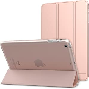 MoKo Case Fit iPad Mini 3/2/1, Slim Lightweight Smart Shell Stand Cover with Translucent Frosted Back Protector Fit iPad Mini 1 / Mini 2 / Mini 3, Rose Gold (with Auto Wake/Sleep)