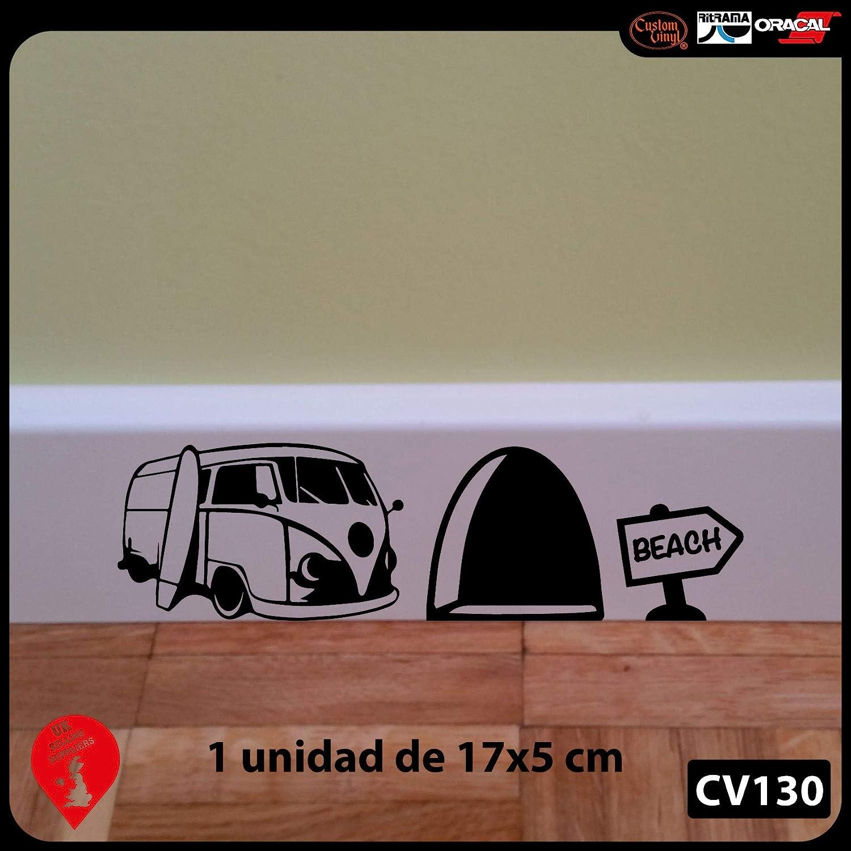 uksellingsuppliers Adhesivo Decorativo de Pared para rodapié, Vinilo, diseño de Agujero de ratón con Furgoneta de surfero 18 cm x 5 cmFabricante del ...