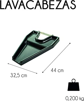 Mobiclinic, Lavacabezas portátil para silla de ruedas, para ancianos y discapacitados, Negro, Teja