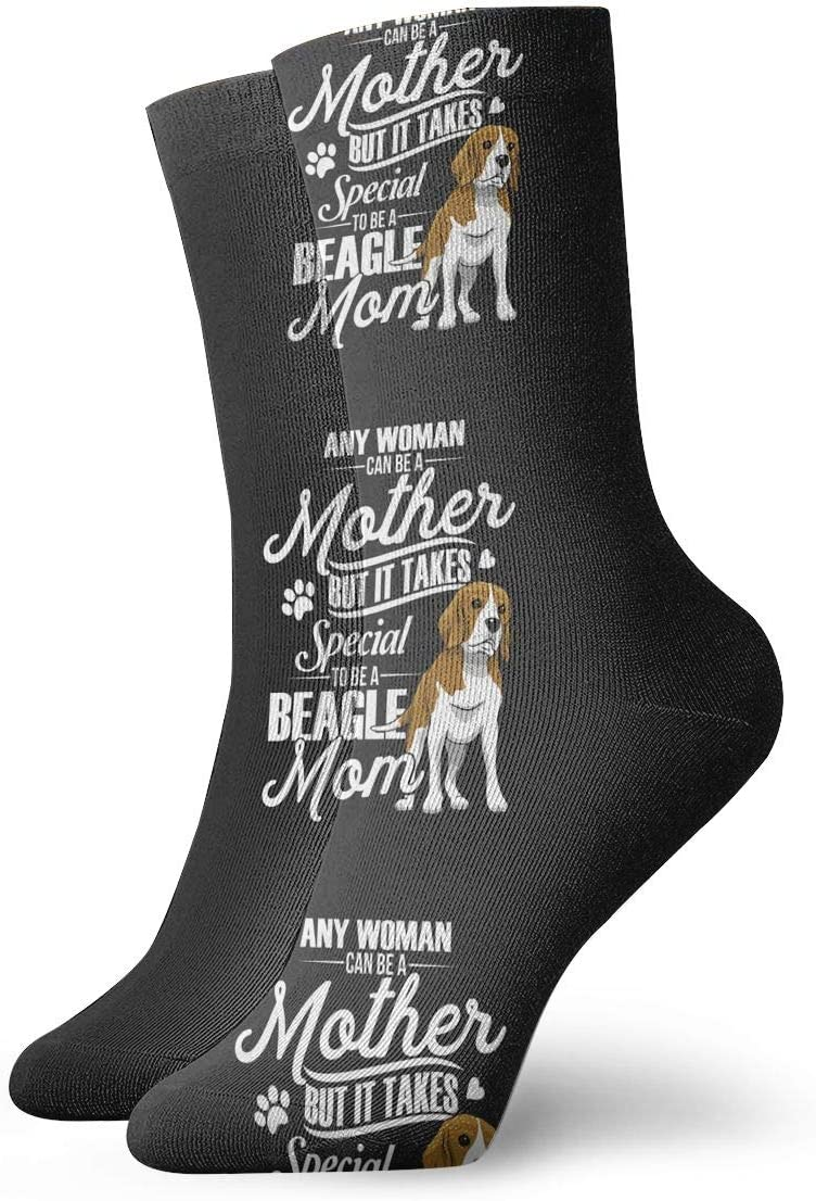 WEEDKEYCAT Funny Beagle Mom Adult Short Socks Cotton Sports Socks for Mens Womens Yoga Hiking Cycling Running Soccer Sports