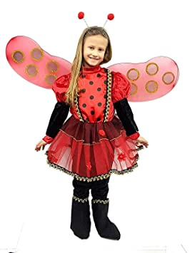 pequeños monelli Traje Mariquita niña 3 años Vestido Ladybug niña ...